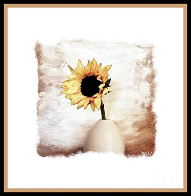 Digital Sunflower Photograph - Glorious Sunflower by Marsha Heiken