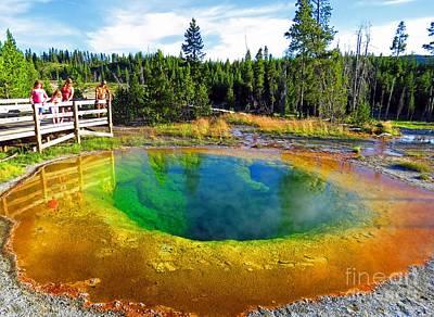 Glory Pool Yellowstone National Park Print by Ausra Huntington nee Paulauskaite