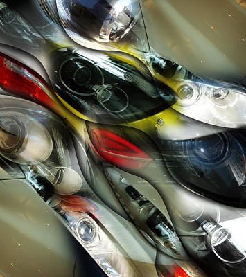 Gloss And Glory Design Print by Florin Birjoveanu