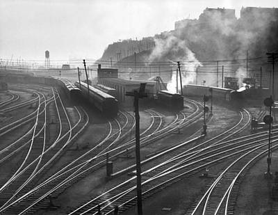 Glouster Photograph - Glouster Railroad Yards by Underwood Archives