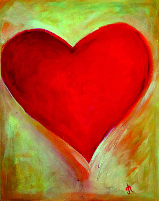 Heart Images Painting - Glow by Gina Haining