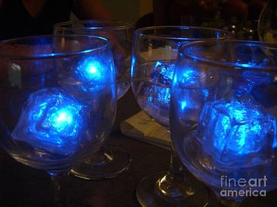 Glowing Drinks Print by Barbie Corbett-Newmin