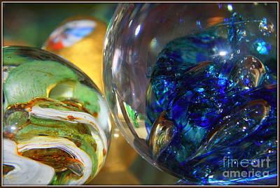 Luminous Globe Photograph - Glowing Glass.. by Jolanta Anna Karolska