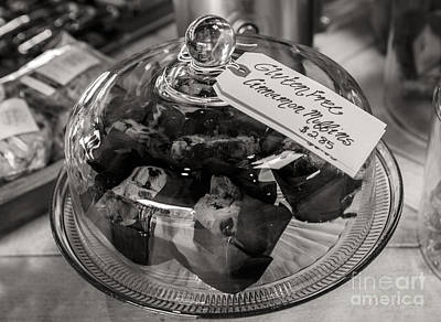 Gluten Free Muffins In Black And White Print by Iris Richardson