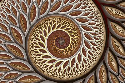 Abstract Digital Digital Art - Glynn Spiral No. 2 by Mark Eggleston