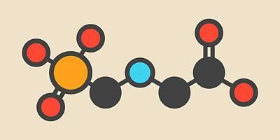 Glyphosate Herbicide Molecule Print by Molekuul
