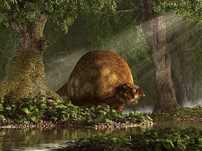 Ice Age Digital Art - Glyptodon by Daniel Eskridge