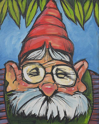 Nose Painting - Gnome 6 by Tim Nyberg