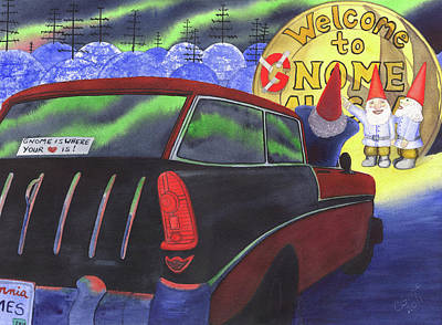 Gnomes Nomad In Nome Print by Catherine G McElroy