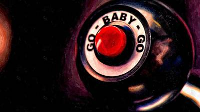 Gears Painting - Go Baby Go by Florian Rodarte