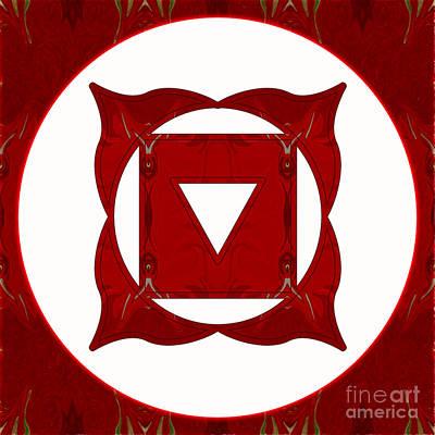 Muladhara Digital Art - Go Deep Abstract Chakra Art By Omaste Witkowski by Omaste Witkowski
