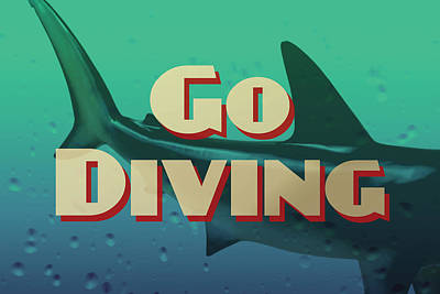 Nurse Shark Digital Art - Go Diving Shark by Flo Karp