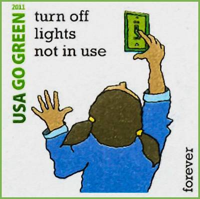 Go Green- Turn Off Lights Not In Use Print by Lanjee Chee