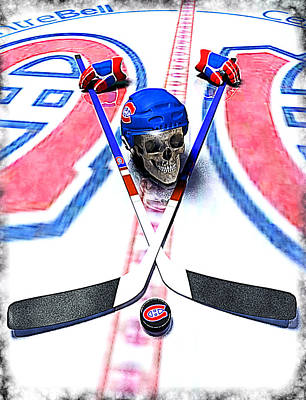Go Habs Go Print by Frederico Borges