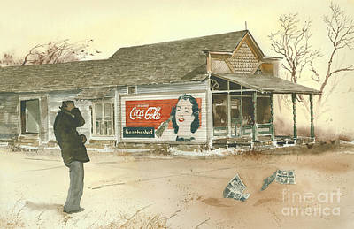 Coca Cola Signs Painting - Go Refreshed by Monte Toon