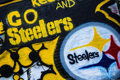 Go Steelers Graffiti Print by Amy Cicconi