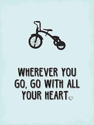 Graduation Digital Art - Go With All Your Heart by Nancy Ingersoll