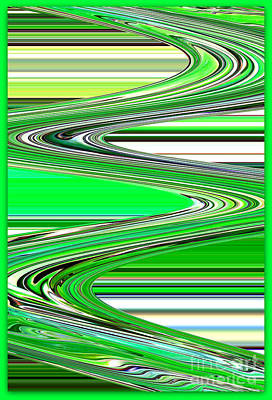 Abstract Digital Art Photograph - Go With The Flow by Carol Groenen