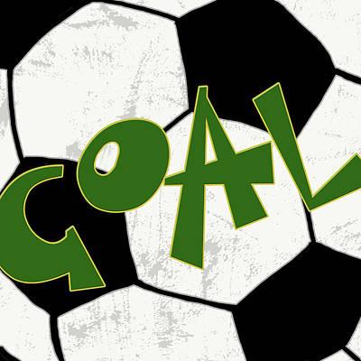 Soccer Painting - Goal by Anna Quach