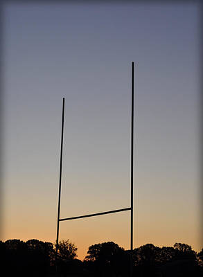 Goal Posts At Sunrise Print by Bill Cannon