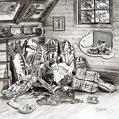 Goalie Dream Print by Elizabeth Urlacher