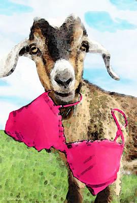 Goat Digital Art - Goat Art - Oh You're Home by Sharon Cummings
