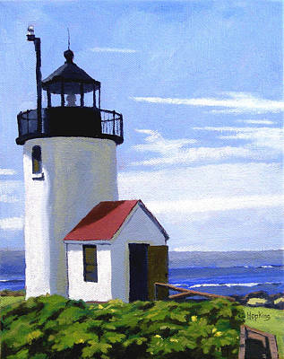 Ogunquit Beach Painting - Goat Island Lighthouse Maine by Christine Hopkins