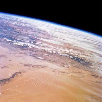 Gobi Desert And Qilian Mountains Print by Nasa