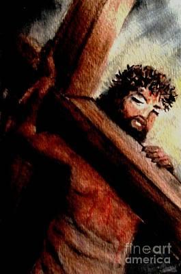 Forgiveness Painting - God Anticipated The Cross by Hazel Holland
