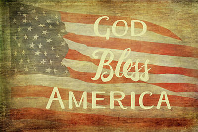 July Painting - God Bless America by Ramona Murdock