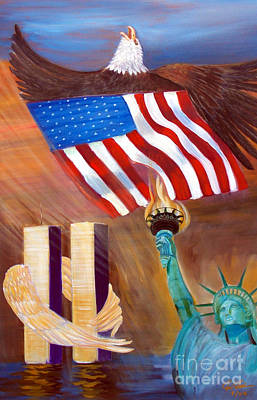 Tolan Painting - God Bless America by To-Tam Gerwe
