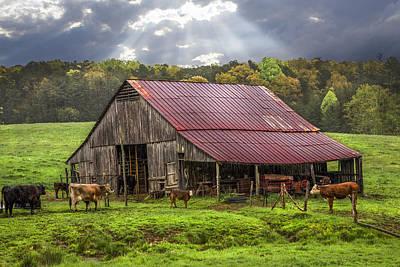 God Bless The Farmer Print by Debra and Dave Vanderlaan