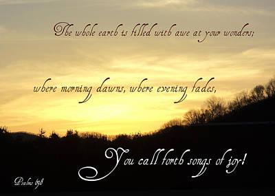 God Calls Forth Songs Of Joy Print by Paula Tohline Calhoun