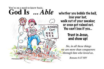 God Is Able Print by George Richardson