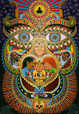 Dragon Eye Painting - God Of Healing by Chris Dyer
