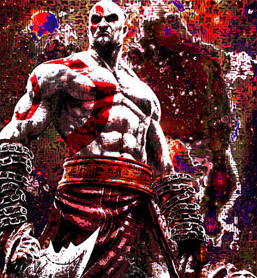 Cronos Digital Art - God Of War Tribute by Andrew Kaupe