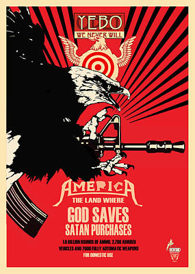 Free Speech Digital Art - God Saves And Satan Purchases by Philip Slagter