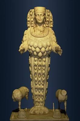 Sacrificial Photograph - Goddess Artemis From Ephesus by David Parker
