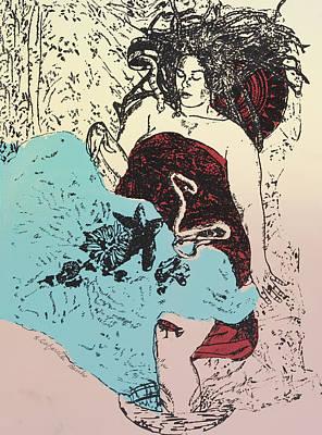 Goddess Down The Drain Print by Susan Cafarelli Burke