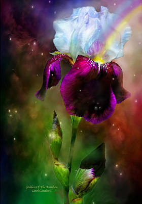 Goddess Of The Rainbow Print by Carol Cavalaris