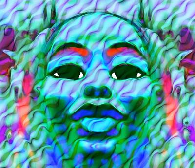 Goddess Oshun 2 Print by Devalyn Marshall