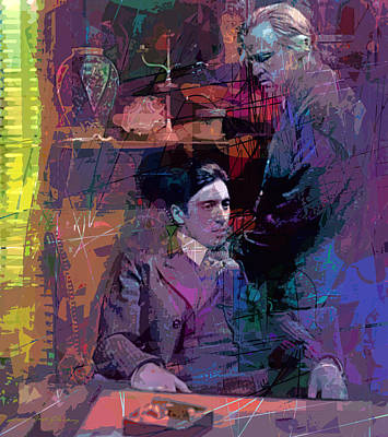 Francis Ford Coppola Painting - Godfather And Son by David Lloyd Glover