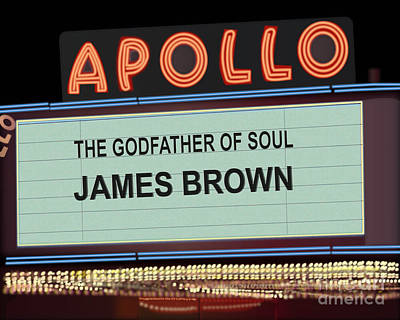 Apollo Theater Digital Art - Godfather Of Soul by Michael Lovell