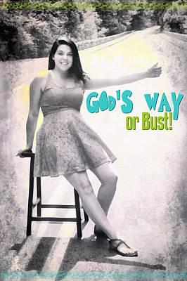 Gods Way Print by Michelle Greene Wheeler