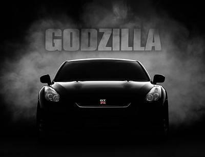 Horse Racing Digital Art - Godzilla by Douglas Pittman