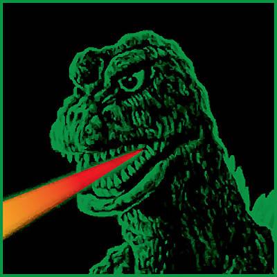 Gary Painting - Godzilla by Gary Grayson