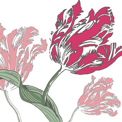 Tulips Digital Art - Going Dutch by Sarah Hough