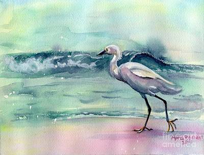 Oceanscape Painting - Going Home by Maria's Watercolor