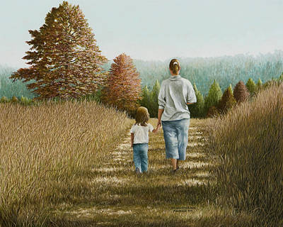 Arkansas Painting - Going Home by Mary Ann King