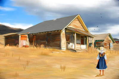 Shed Digital Art - Going Home by Mary Timman